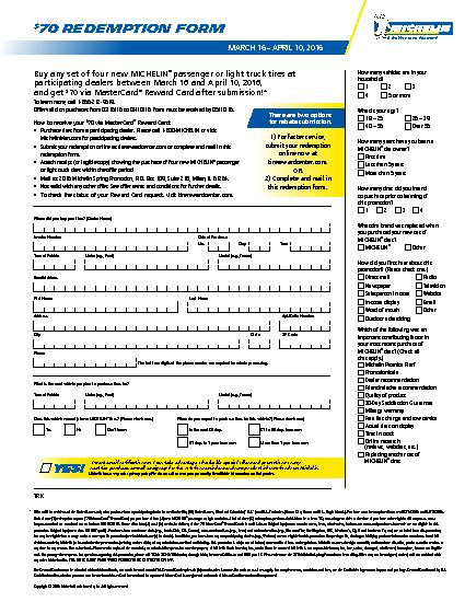 Michelin Shift Into Savings Rebate Form | Wayne's Tire & Auto Repair