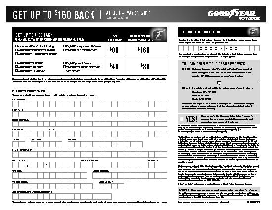 Goodyear tire rebates coupons